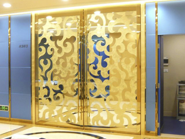 decorative stainless door