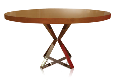 table with stainelss base