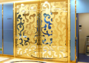 decorative stainless steel door